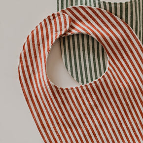 Organic Cotton Striped Bibs