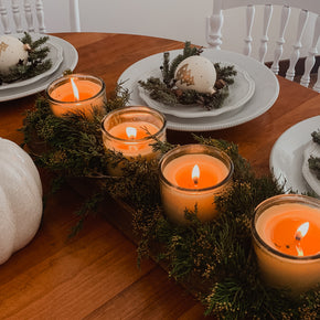 Candle Centerpiece From Reclaimed Wood