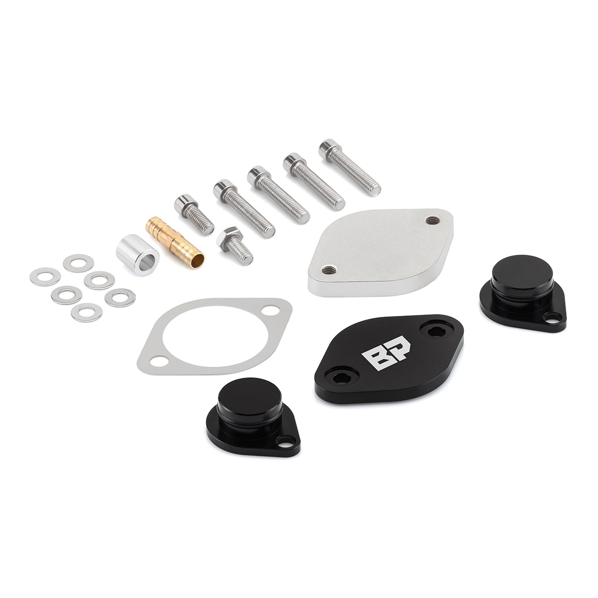 2008-2010 Ford F250 Super Duty Powerstroke Diesel EGR Block Off Plate & Cooler Delete Kit-EGR Block Off Plates + Cooler Delete-Blackpathinc