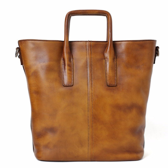Handmade women vintage tote shoulder leather handbag leather high quality leather high quality geniun leather handbag Genuine leather bag  Delete product Save