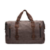 cow leather bag, travel bag, canvas bag, Waxed canvas bag,  Men bag, Women Bag, Waxed Canvas, Duffel Bag, Luggage Bag