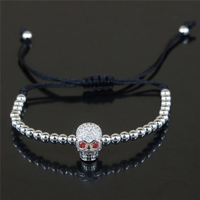 Crystal Skull Bracelet - Purse Inn