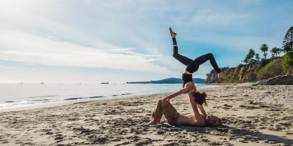 3 Easy Acro Yoga Poses You Can Try with Your Partner This Valentine's Day