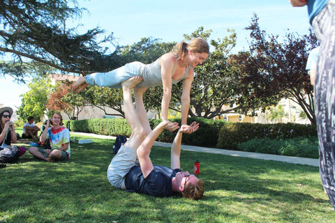 3 easy acro yoga poses you can try with your partner this