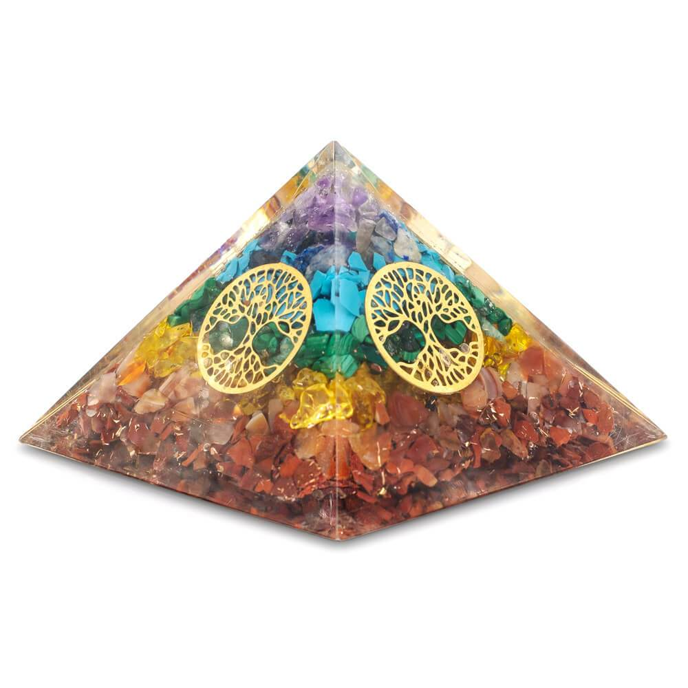 Tree of Life Orgone Pyramid (Free Bracelet)