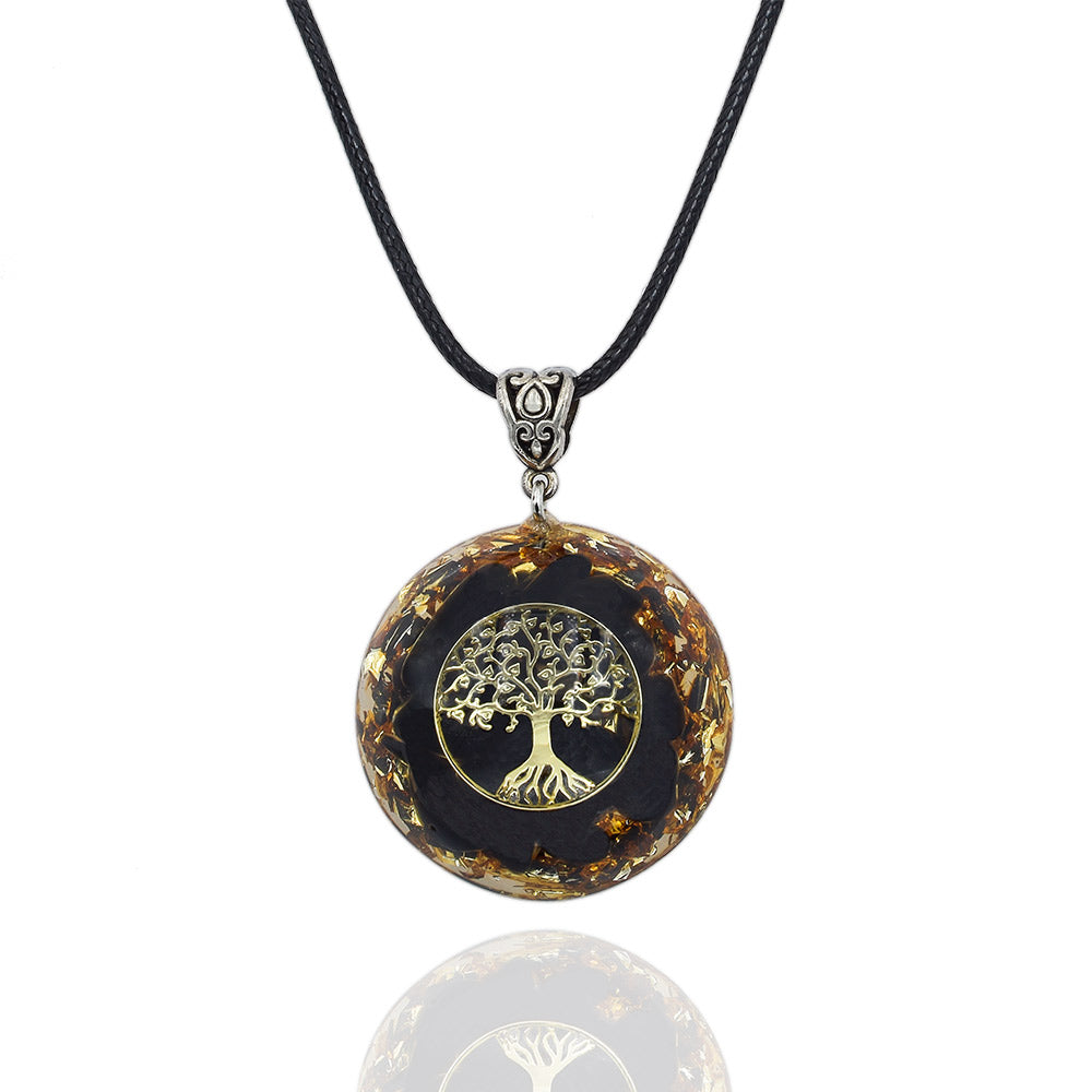 Obsidian Orgone Necklace