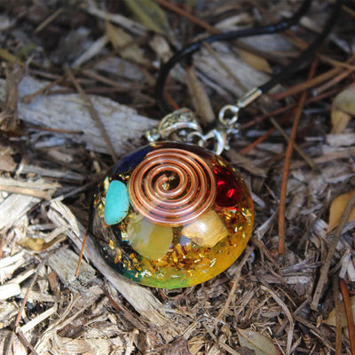 Chakra Orgone EMF Protection Necklace - Vinaya
