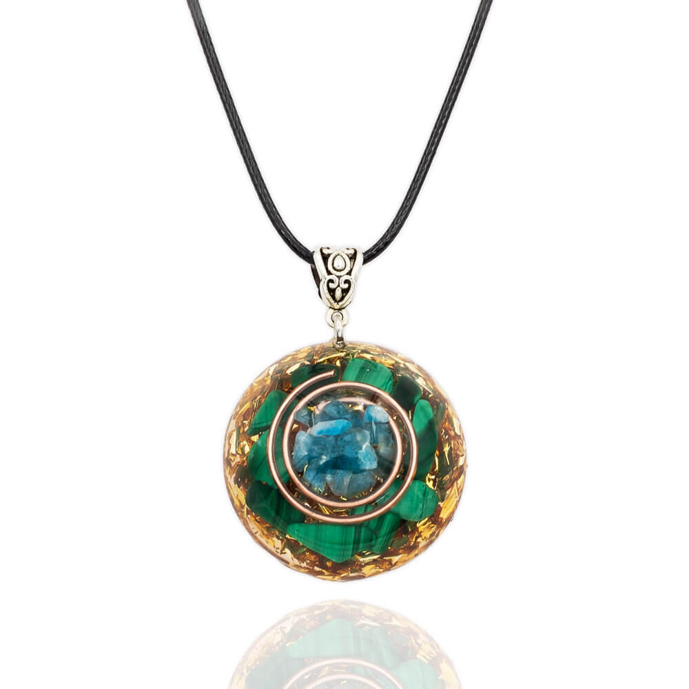 Kyanite Malachite Orgone Necklace