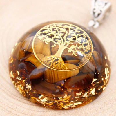 Tree of Life Tiger Eye Orgone Necklace - Vinaya