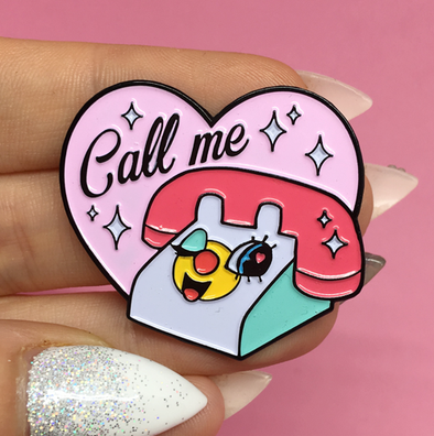 Call me Enamel Pin