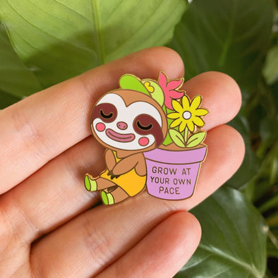 Grow At Your Own Pace Enamel Pin