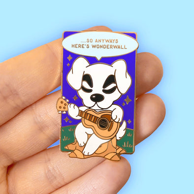 Here's Wonderwall Enamel Pin