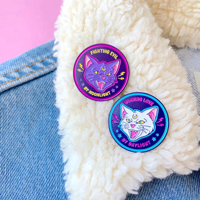 Fight Evil Win Love Enamel Pin Set