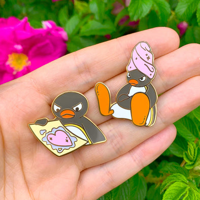 Self Care Pingu Enamel Pins