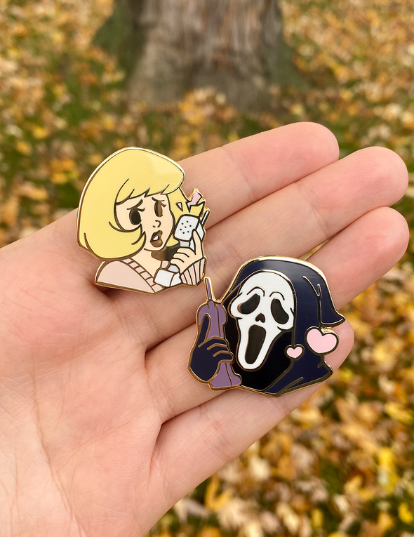 Scream Enamel Pin Set