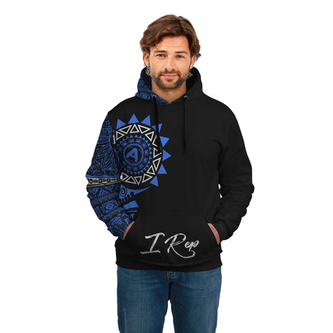 I REP FRONT POCKET HOODIE - Blue