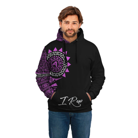 I REP FRONT POCKET HOODIE - Purple