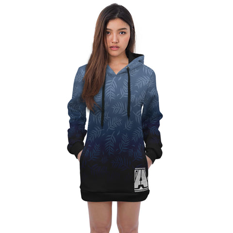 OCEAN BLUE HOODIE DRESS