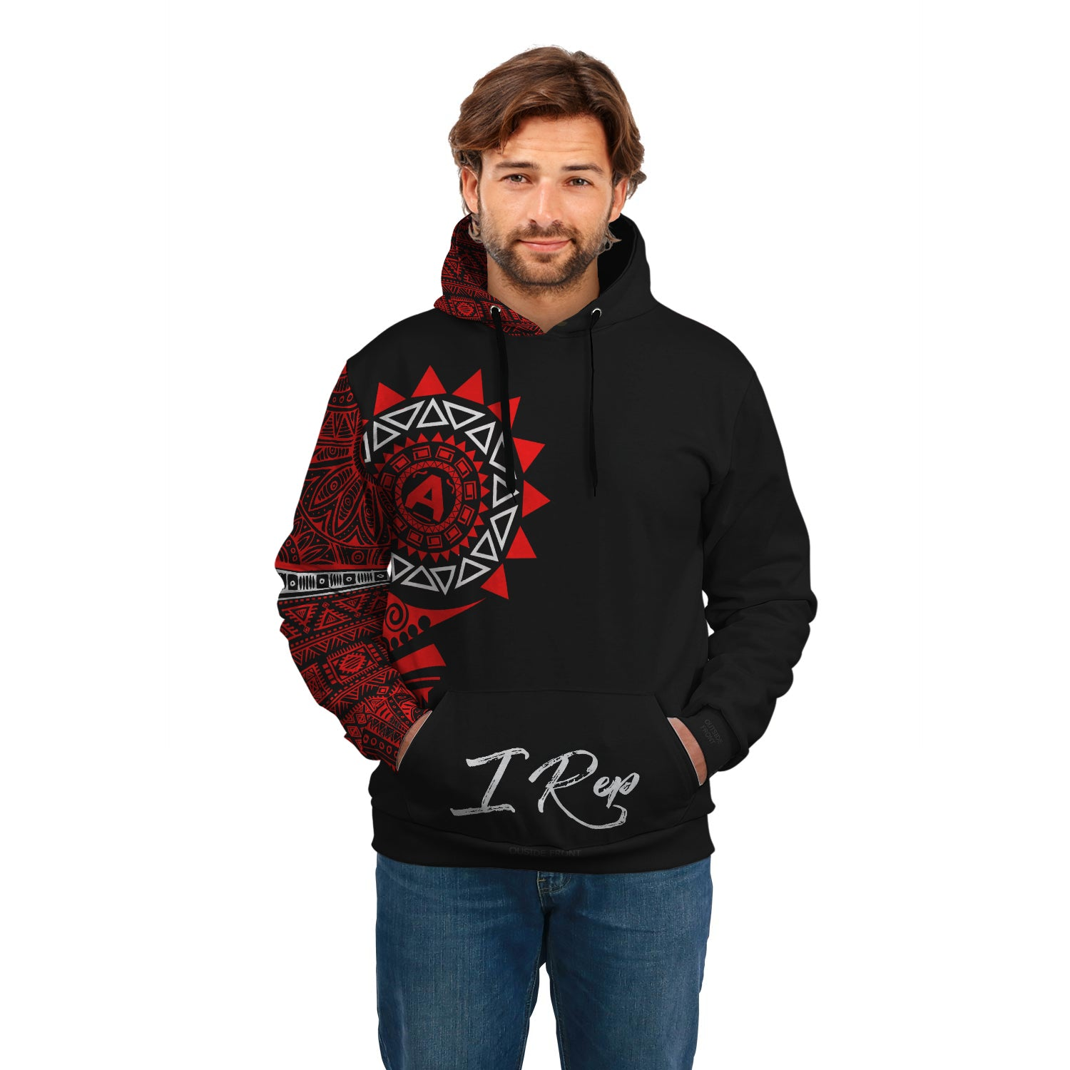 I REP FRONT POCKET HOODIE - Red