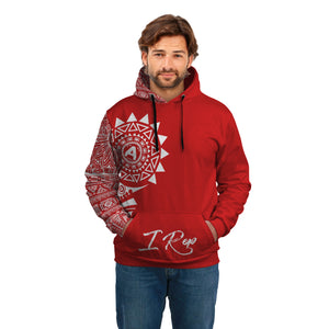 I REP FRONT POCKET HOODIE - Red & White