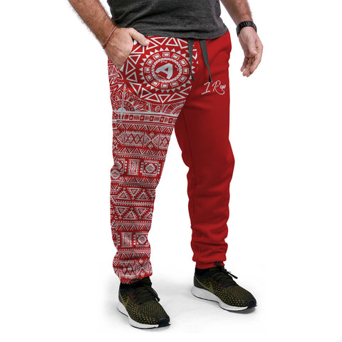 I REP JOGGERS - White&Red