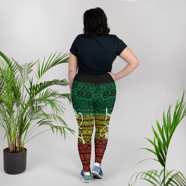 I REP (Rasta) Plus Size Leggings