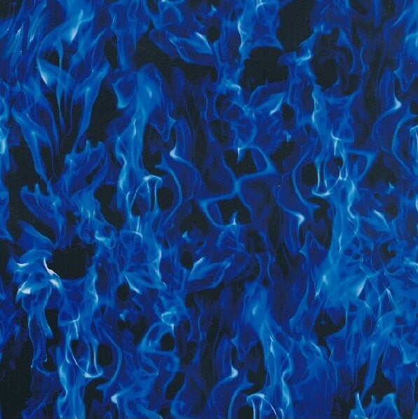 Abstract Hydrographics Film - Blue Flames, Hydrographics film - Dipology Hydrographics