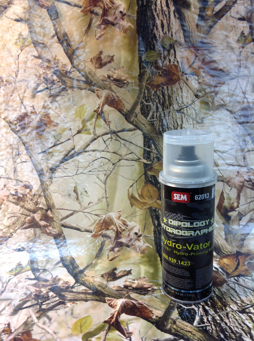 HD WOODLAND 3 Meter Pro Kit with Aerosol Activator, Hydrographics film - Dipology Hydrographics