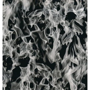 Flames Hydrographics Film - Black Flames, Hydrographics film - Dipology Hydrographics