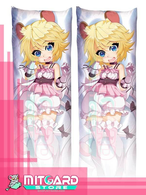 ORIGINAL CHARACTER Mouse Girl Body pillow Dakimakura hugging case Anime - Mitgard Studio - 50cmx150cm / Soft Satin / 2 Sides Printed