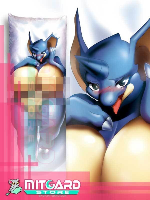 POKEMON Nidoqueen Body pillow NSFW Dakimakura hugging case Anime videogame - Mitgard Studio - 50cmx150cm / Velvet / One side: Picture 1 left
