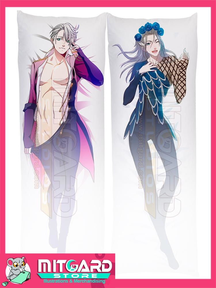 YURI ON ICE!!! Victor Nikiforov Body pillow V1 Dakimakura hugging case anime - Mitgard Studio - 50cmx150cm / Peach Skin / 2 Sides Printed