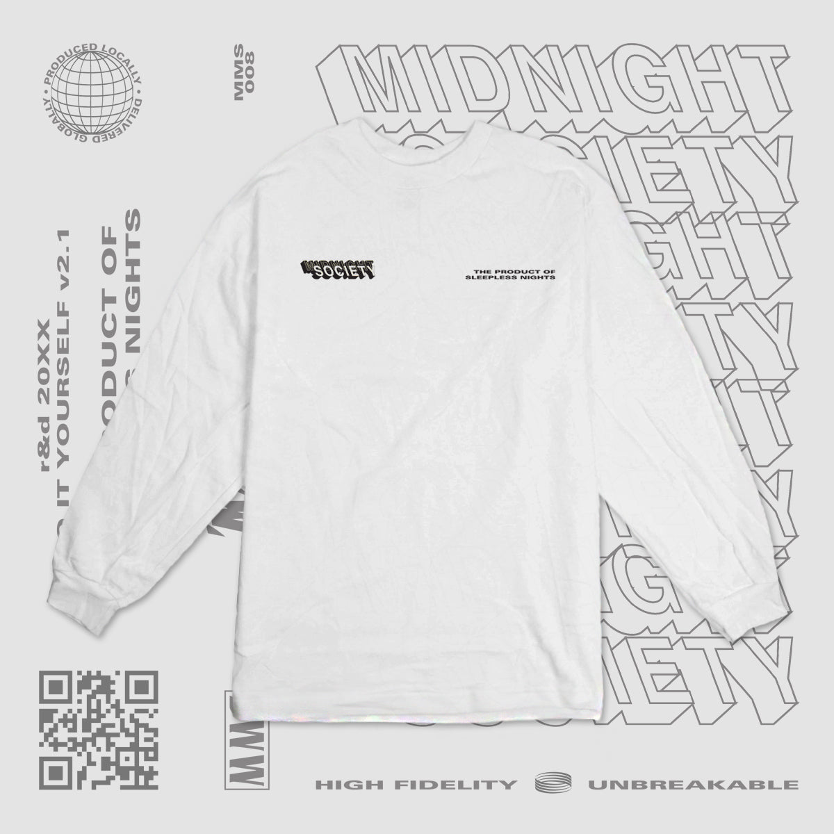 TPOSN LONGSLEEVE - ICE WHITE