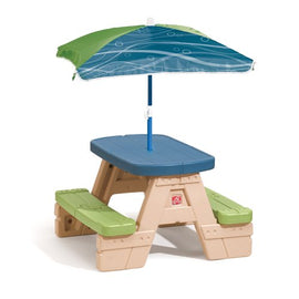 Sit and Play Kids Picnic Table With Umbrella