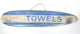 Hand Carved TOWELS SURFBOARD