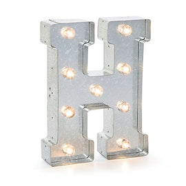 Silver Metal Marquee Letter