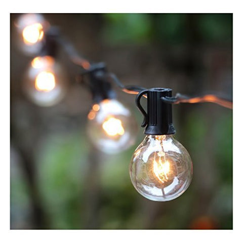 Globe String Lights with Clear Bulbs