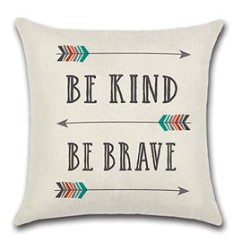 Be Kind Be Brave Pillow Covers