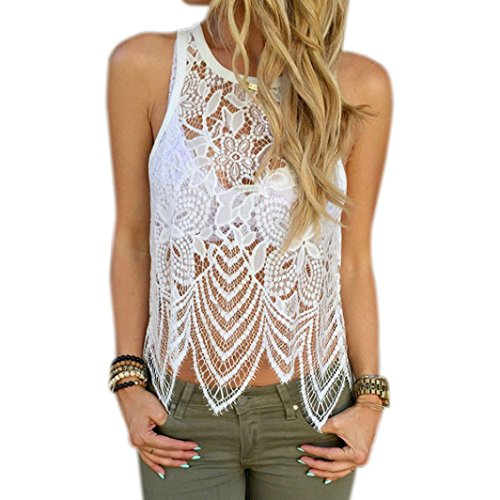 Outtop Women Lace Crochet Tank Top