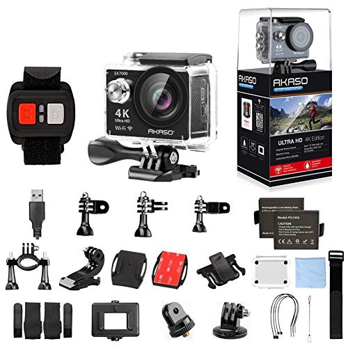 AKASO 4K WIFI Action Camera Ultra HD Waterproof