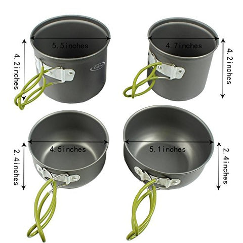 Outdoor Camping 4 piece Cookware