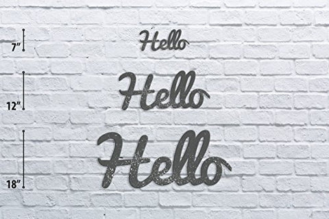 Hello Distressed Vintage Wall Monogram