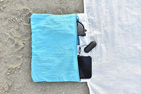 Chillax Sand Free Beach/Camp Blanket - Huge 9' x 10'
