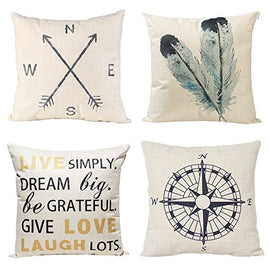 Decorative Throw Pillow Covers Set of 4