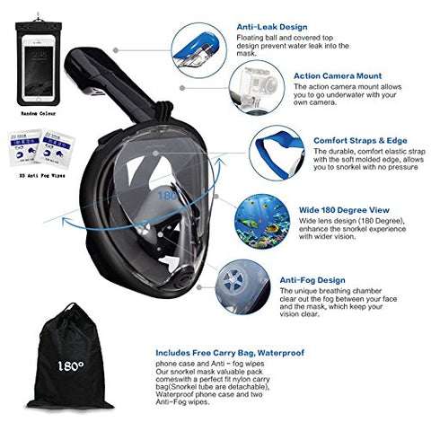 Full Face Snorkel GoPro Ready - Lower price available on select options