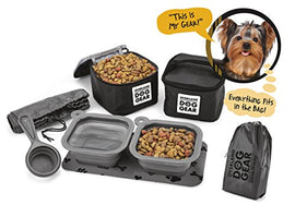 Dog Travel Food Set For Small Dogs (Black)