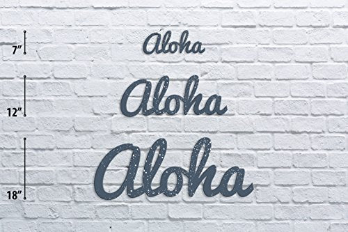 Aloha Distressed Vintage Wall Monogram