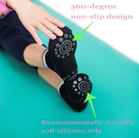 Non -Slip Skid Yoga Pilates Socks 4 Pack