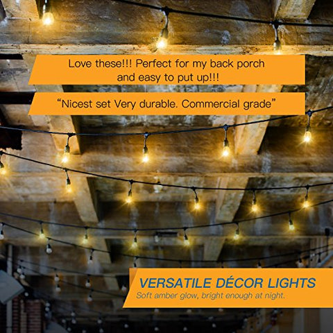 JACKYLED Outdoor String Lights
