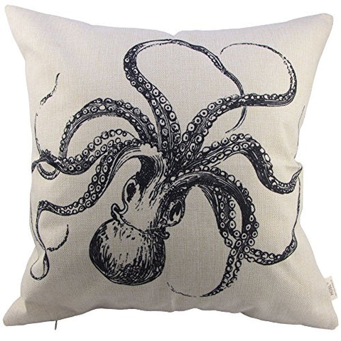 Decorative Octopus Decorative Pillow Case